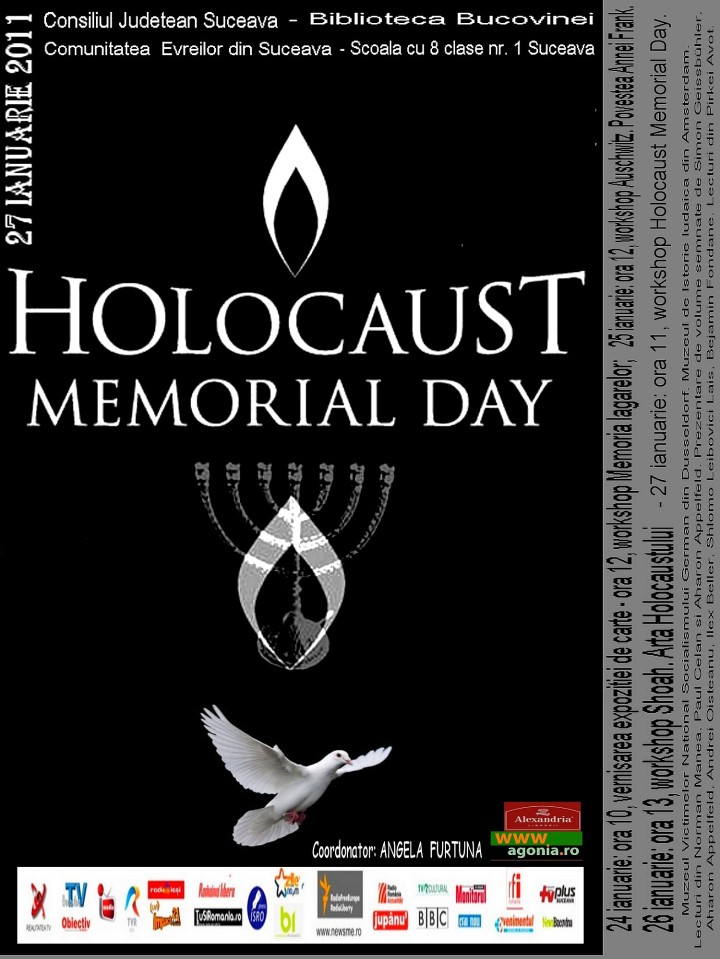 Angela Furtuna PR HOLOCAUST MEMORIAL DAY 2011 BIBLIOTECA BUCOVINEI