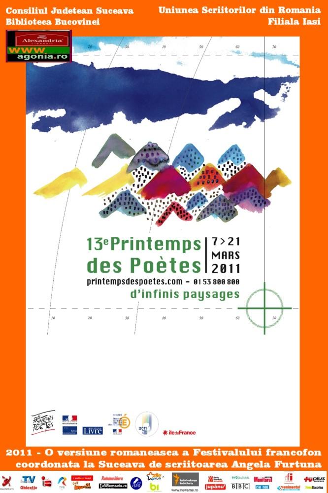 Scriitoarea Angela Furtuna coordoneaza la Biblioteca Bucovinei editia a 13 a a Festivalului Francofon Primavara Poetilor- Le Printemps des Poetes, 2011, intre 7-21 martie