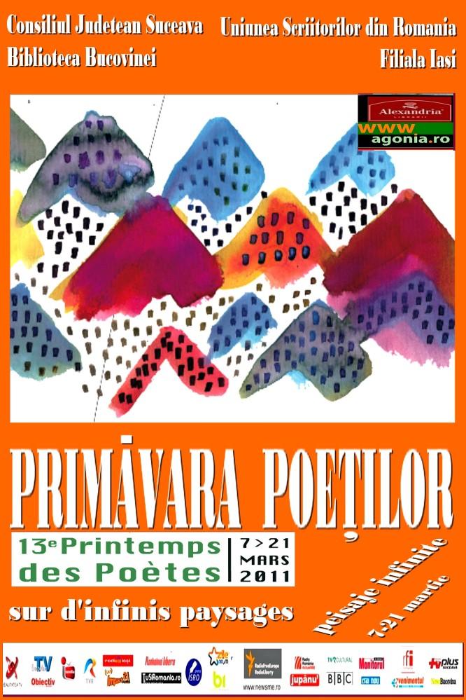 Angela Furtuna coordoneaza la Biblioteca Bucovinei editia a 13 a a Festivalului Francofon Primavara Poetilor, Le Printemps des Poetes intre 7 - 21 martie 2011