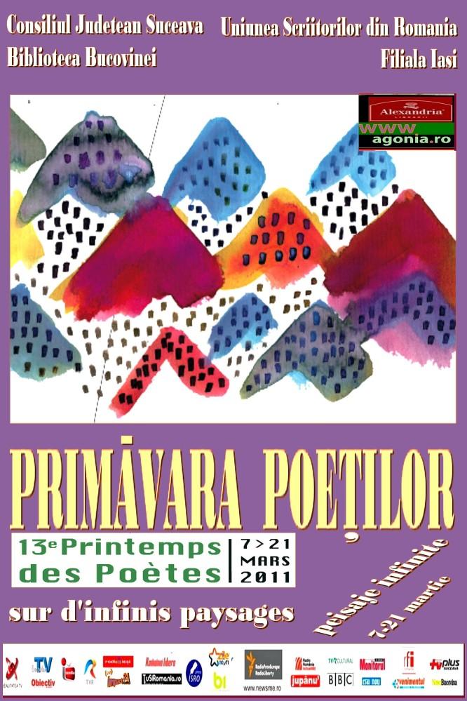 Scriitoarea Angela Furtuna coordoneaza la Biblioteca Bucovinei editia a 13 a a Festivalului Francofon Primavara Poetilor, Le Printemps des Poetes, intre 7 si 21 martie 2011