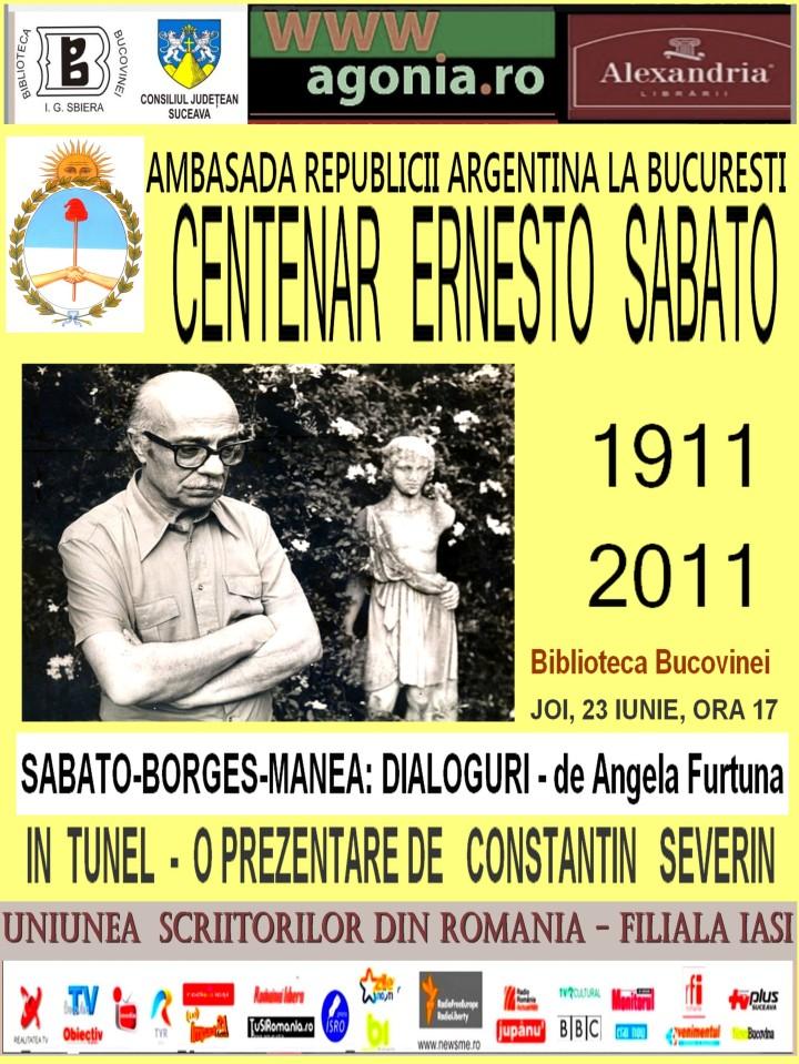 ANGELA FURTUNA  PR CENTENAR ERNESTO SABATO BIBLIOTECA BUCOVINEI 23 IUNIE 2011 ora 17