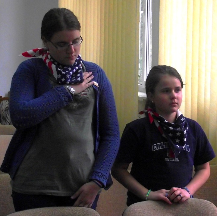 Angela Furtuna Archive  - On 4 th July 2011 - USA National Anthem - Bukovina Library