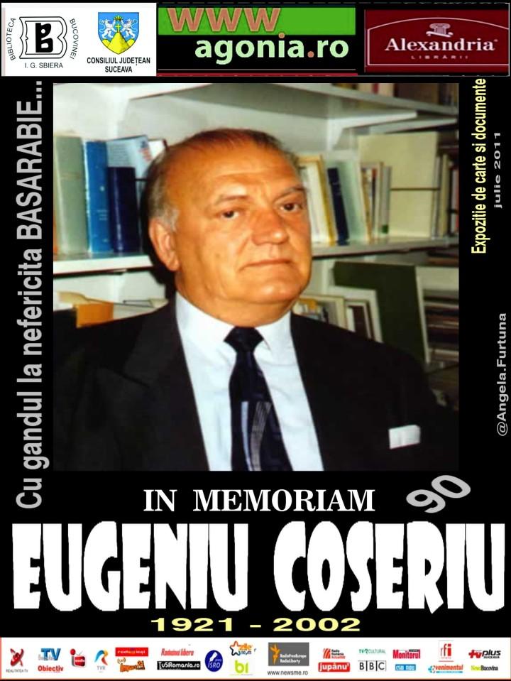 PR IN MEMORIAM  EUGENIU COSERIU 90 - EXPOZITIE DE CARTE SI DOCUMENTE IULIE 2011 BIBLIOTECA BUCOVINEI