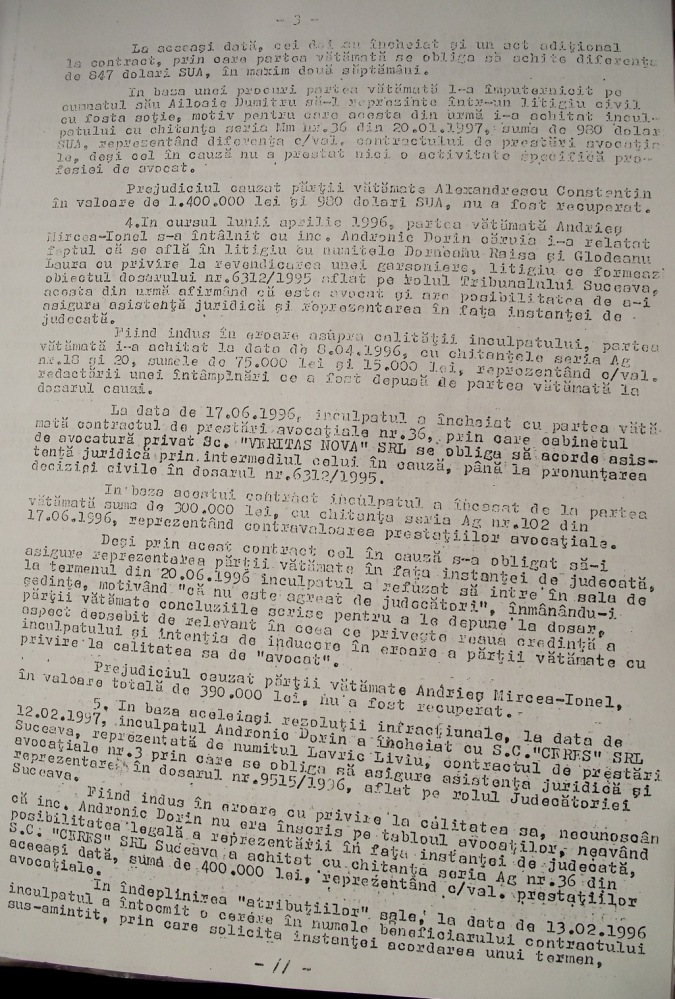 Mafia Andronic Dorin, Vasile Ilie, Valeriana Ilie, Justitia si Politica romana 3