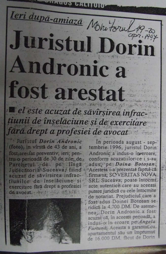 Vasile ILie, Andronic Dorin si Valeriana Ilie - Monstrii politici de la Suceava 4