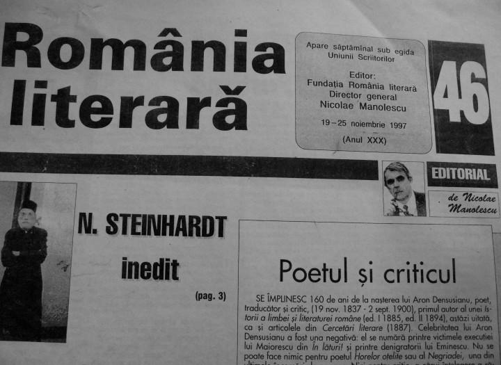 2. Angela Furtuna Debut Pagina Poemul cu Scrisoare Romania literara Nr. 46 din 1997   A