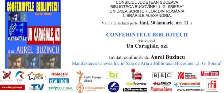 angela furtuna invitatie anul centenar caragiale 2012 si conferintele bibliotecii