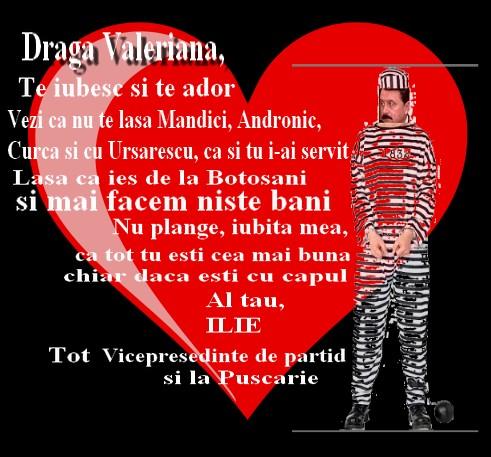 vasile ilie si valeriana ilie: scrisoarea lui ilie de la puscarie catre iubita lui valeriana