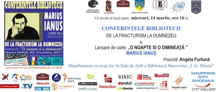 PR ANGELA FURTUNA MARIUS IANUS CONFERINTELE invitatie marius ianus 2012