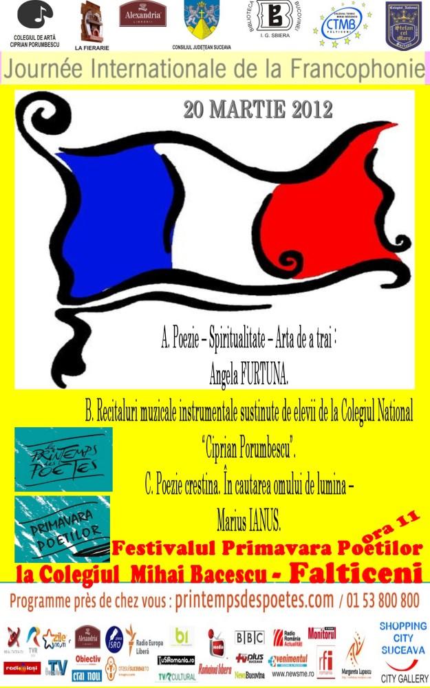 Angela Furtuna PR Ziua Internationala Francofonie Colegiul Bacescu Falticeni 20 martie ora 11