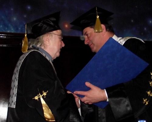 Norman Manea primeste titlul de Doctor Honoris Causa al Universitatii din Iasi, Rector Vasile Isan