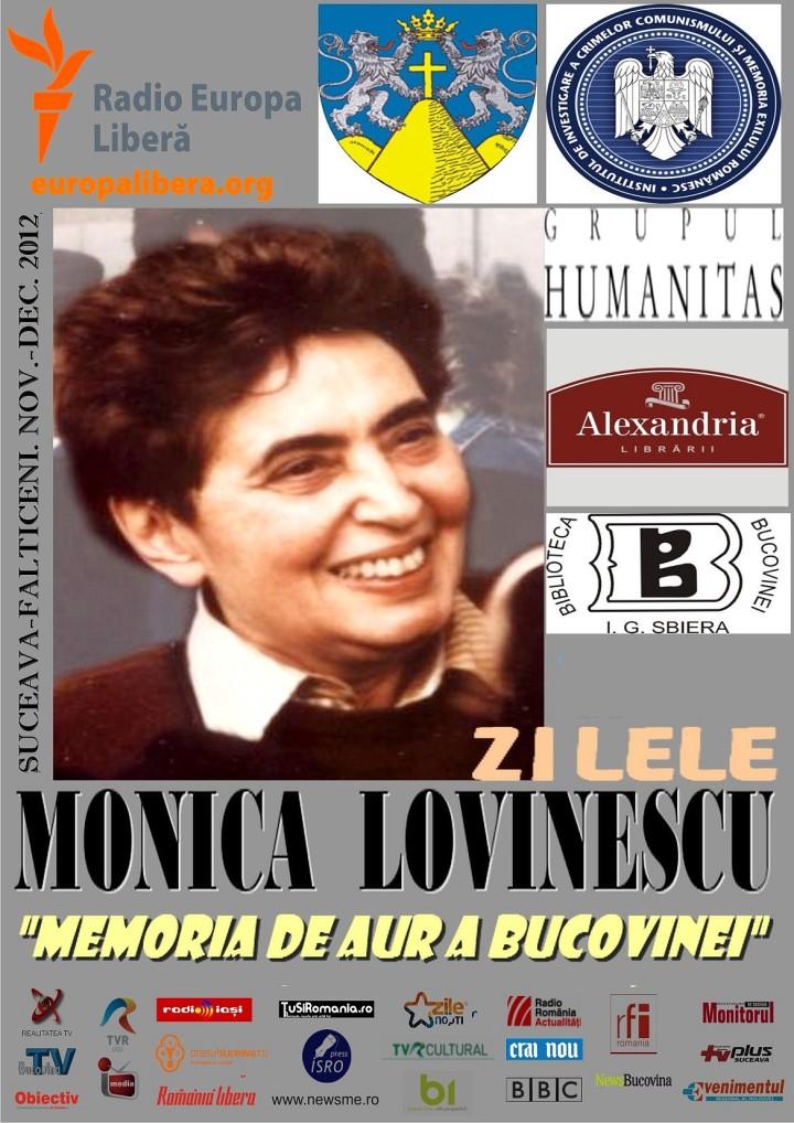 Zilele Monica Lovinescu. Program coordonat de Angela Furtuna la Biblioteca Bucovinei si Consiliul Judetean Suceava