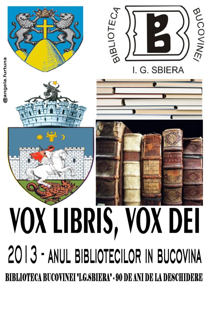 angela furtuna, biblioteca bucovinei, 90 de ani de la infiintarea bibliotecii bucovinei