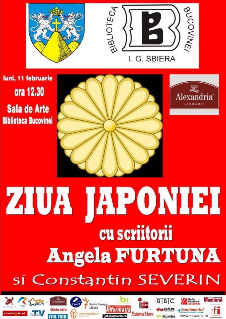 Ziua Japoniei la Biblioteca Bucovinei, 11 februarie, cu Angela Furtuna si Constantin Severin  japonia