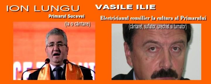 Primaul Ion Lungu si consilierul de cultură  electrică Vasile Ilie, intr-un act de cultura la Primaria Sucevei